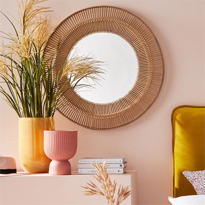Home Republic Aztec Mirror Natural Bamboo 81x81cm By Adairs