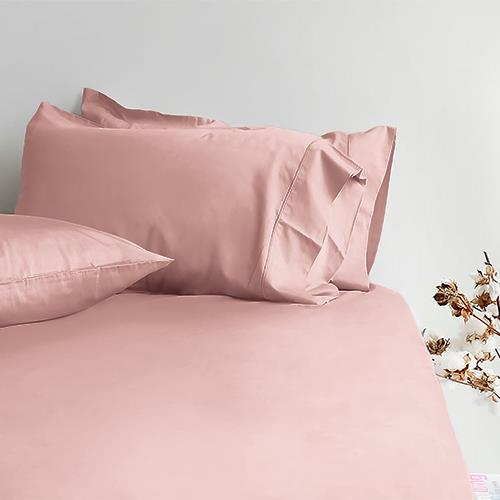 Canningvale Alessia Bamboo Cotton Long Single Fitted Sheet  Single Pillowcase - Rosa Gold