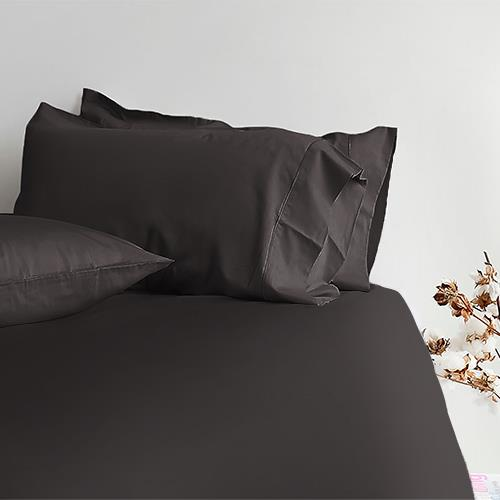 Canningvale Alessia Bamboo Cotton Long Single Fitted Sheet  Single Pillowcase - Porcini Grey