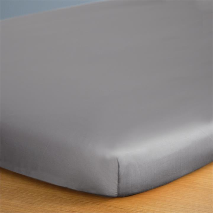 Canningvale Alessia Bamboo Cotton Cot Fitted Sheet - Perla Grey