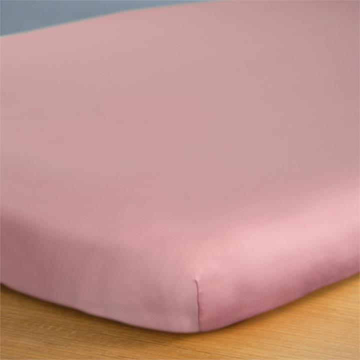 Canningvale Alessia Bamboo Cotton Cot Fitted Sheet - Rosa Gold