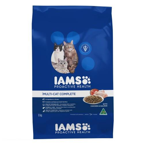 Iams Adult Multi Cat Chicken and Salmon 8kg