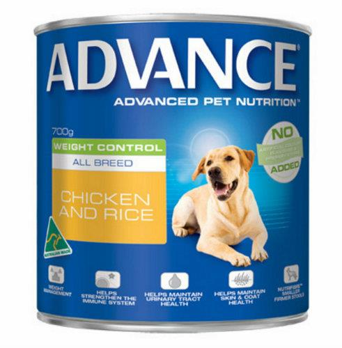 Image of Advance Adult Weight Control Chicken and Rice Cans 12 x 700g