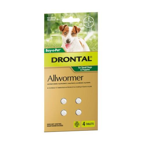 Image of Drontal Bay-O-Pet Allwormer Small 3kg 4 pack
