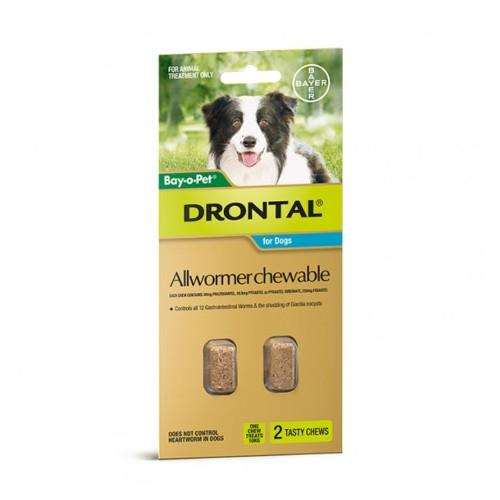Image of Drontal Bay-O-Pet Allwormer Chew Medium 10kg 2 pack