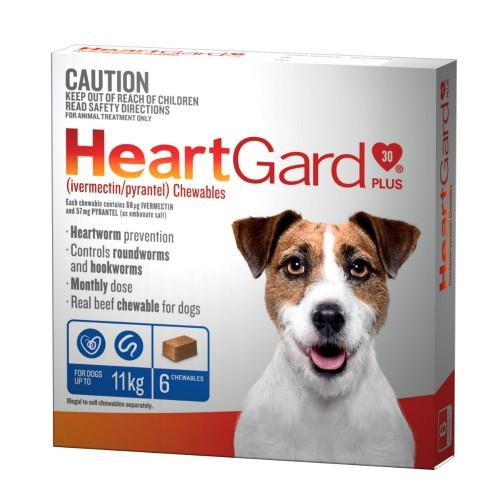 Heartgard Plus 0-11kg Small Blue 6 pack