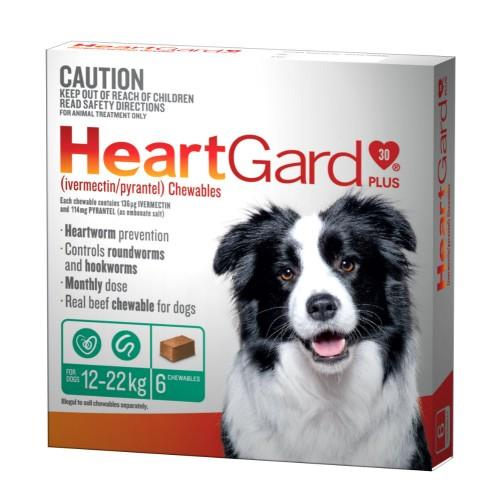 Heartgard Plus 12-22kg Medium Green 6 pack