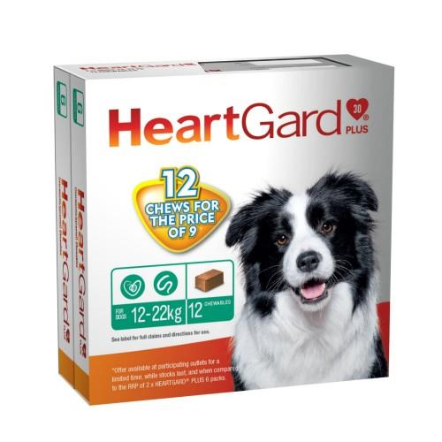 Heartgard Plus 12-22kg Medium Green 12 pack