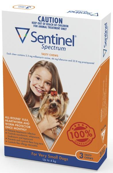 Sentinel Spectrum Chews Very Small Brown 3 pack