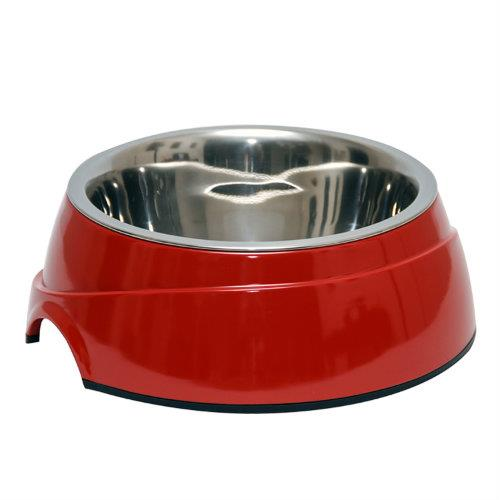Image of 2 in 1 Melamine Bowl Small Red