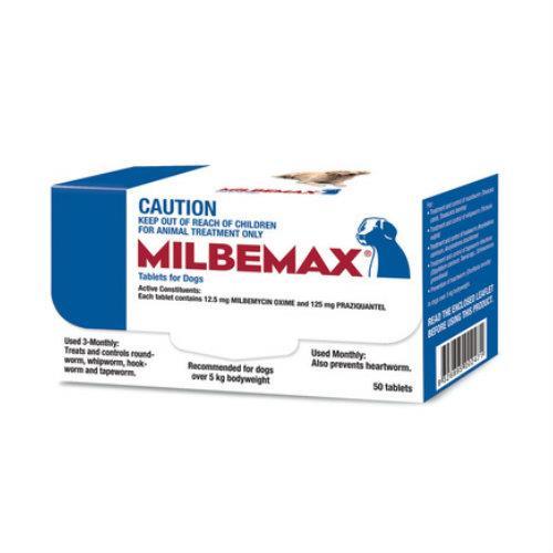 Image of Milbemax Allwormer Over 5kg 50 tablets