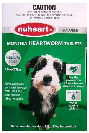 Nuheart Medium Dog 11-23kg Green 6 pack