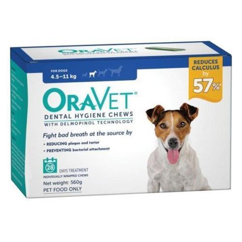 Oravet Dental Chews Small 4.5-11kg 28 chews