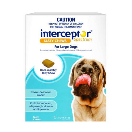 Interceptor Spectrum Chews Large 22-45kg Blue 3 pack