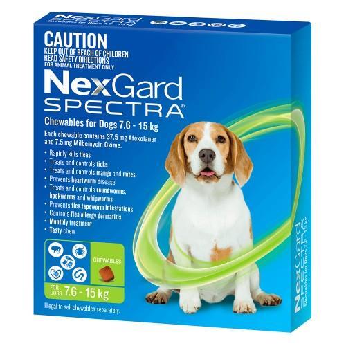 Image of NexGard Spectra Medium 7.6-15kg 3 pack