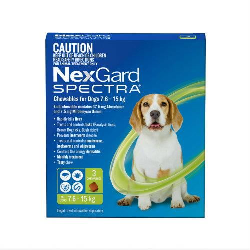 Image of NexGard Spectra Medium 7.6-15kg 6 pack