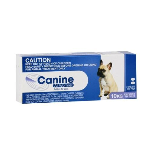 Canine All Wormer Up to 10kg 2 pack