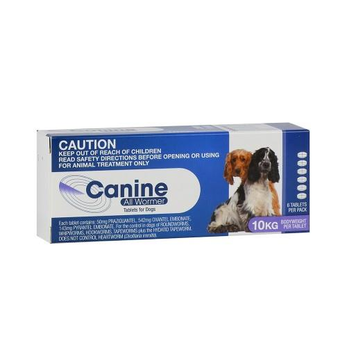 Canine All Wormer Up to 10kg 6 pack