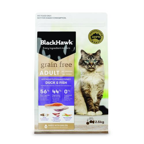 Black Hawk Adult Cat Grain Free Duck and Fish 2.5kg