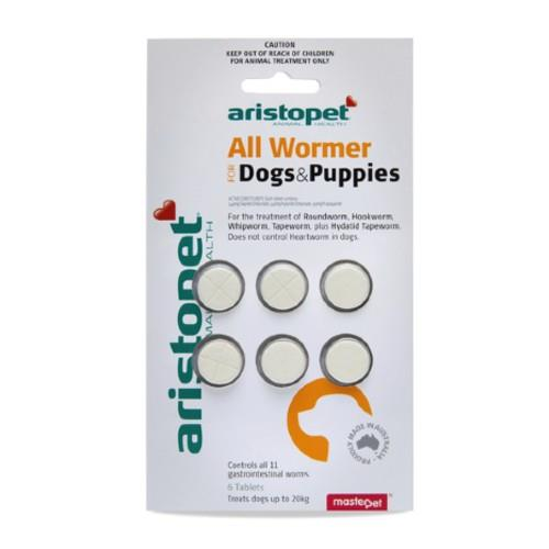 Aristopet All Wormer Dogs and Puppies 6 pack