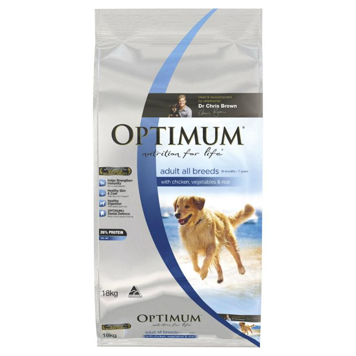 Optimum All Breed Adult Chicken, Rice & Vegetables 15kg