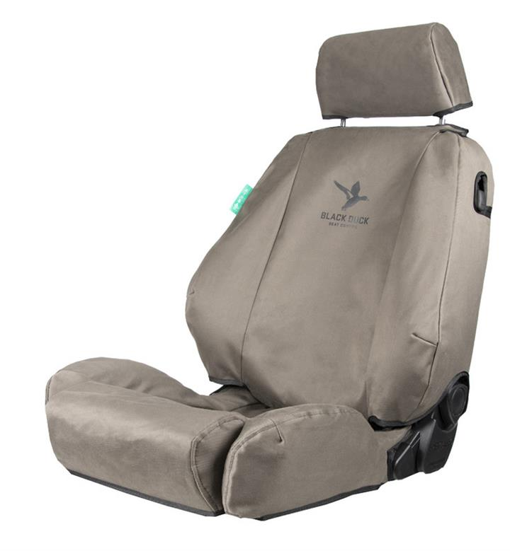 Black Duck 4Elements Grey Console & Seat Covers Ford Ranger PX Series 2/3 XL/XLS 6/2015-10/2020