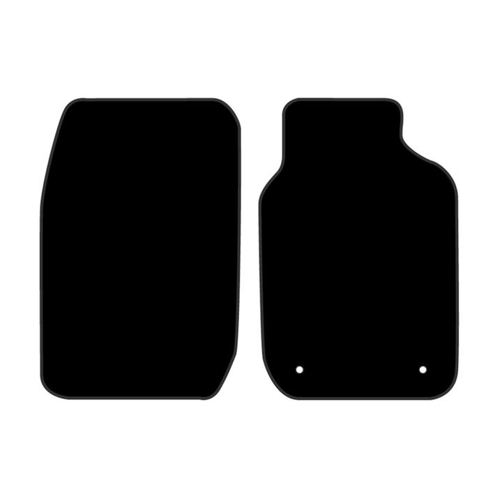 Image of Black - Tailor Made Floor Mats Toyota Corolla 610T 9/1998-12/2001 Custom Fit Front Pair
