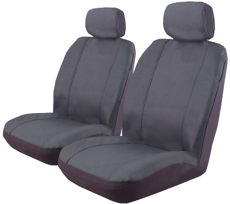 Image of Canvas Seat Covers Isuzu D-Max TF Crew Cab 10/2008-5/2012 Airbag Deploy Safe