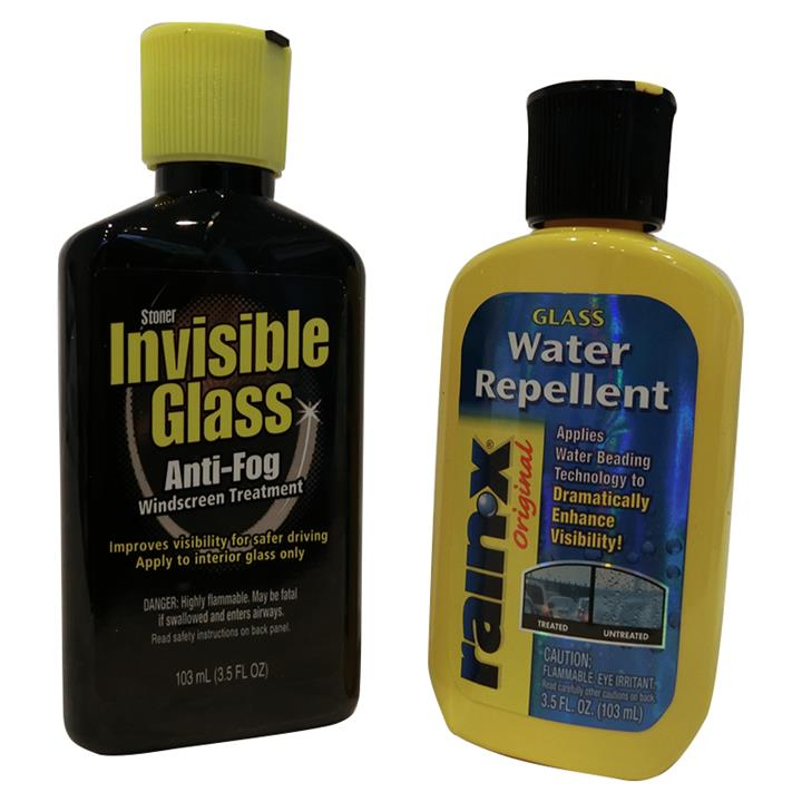 Image of Rain-X Water Repellent + Invisible Glass Anti-Fog 206ml Combo Windscreen Window Glass Treatment