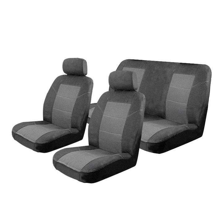Image of Esteem Velour Seat Covers Set Suits Nissan 1200 4 Door Sedan 1970-1974 2 Rows
