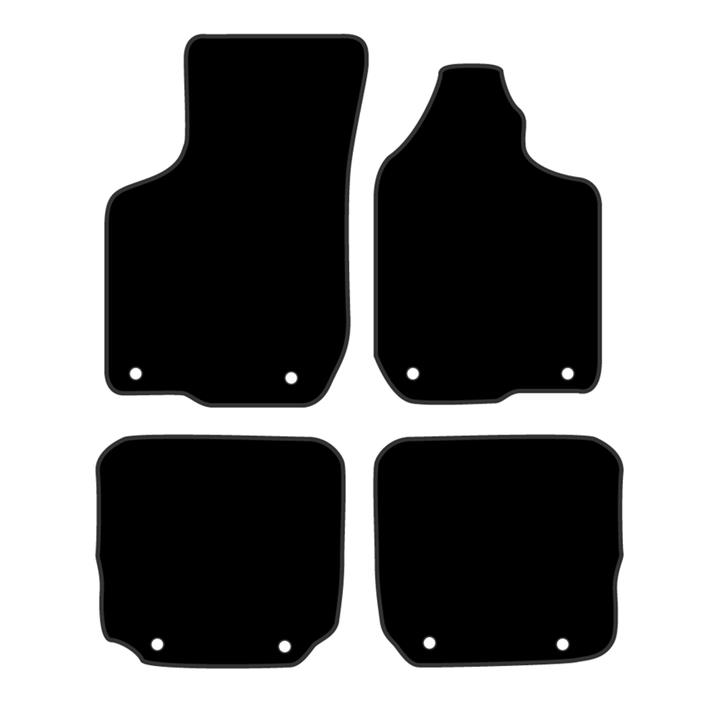 Image of Black - Tailor Made Floor Mats Audi A3 1995-2003 Custom Front & Rear