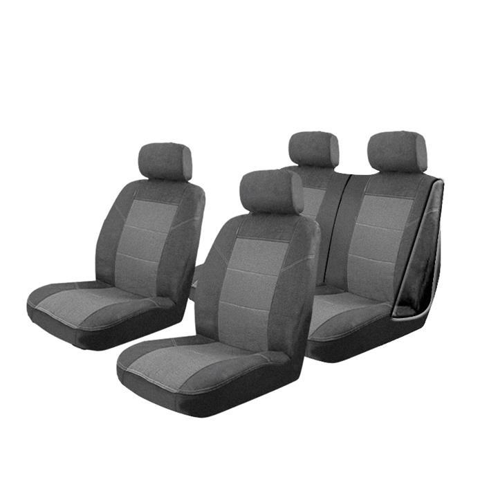 Image of Esteem Velour Seat Covers Set Suits Daihatsu Applause 4 Door Sedan 1998 2 Rows