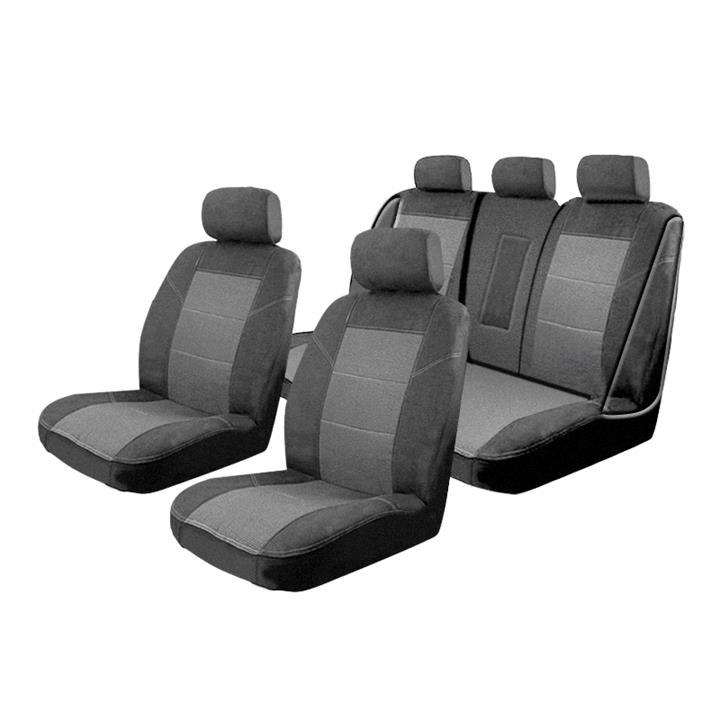 Custom Made Esteem Velour Seat Covers Subaru Liberty 6Gen MY15 2.5i/2.5i Premium/3.6R 4 Door Sedan 12/2014-On 2 Rows [Colour: Charcoal]