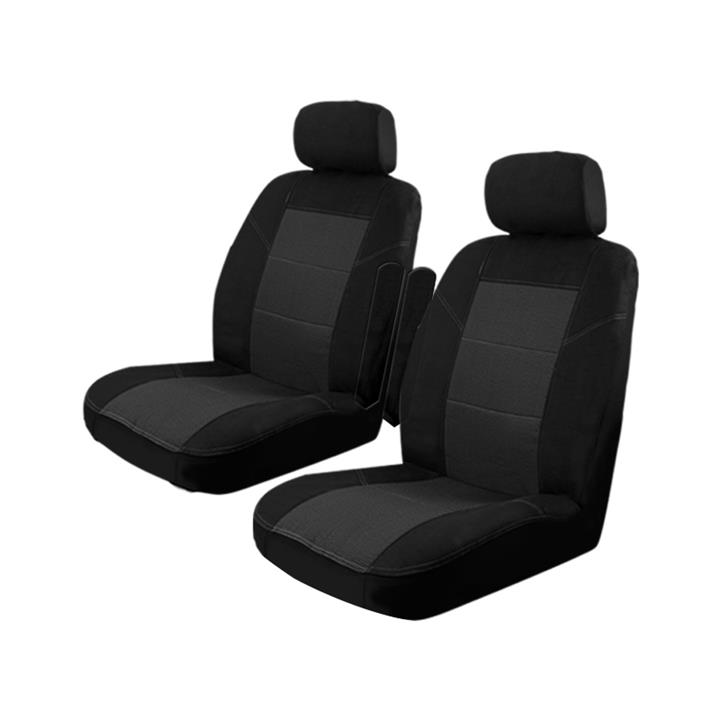 Image of Black - Custom Made Esteem Velour Seat Covers Volkswagen Caravelle GL Wagon 1985-2004 1 Row