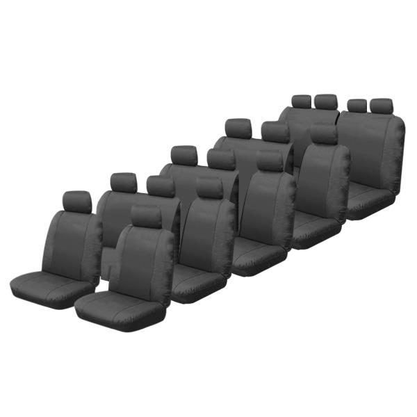 Image of Canvas Custom Made Seat Covers Toyota Hiace Commuter Bus 1984-On 5 Rows