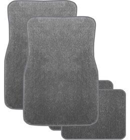 Image of Majestic Mats Plush Pile Carpet Set of 4 Charcoal