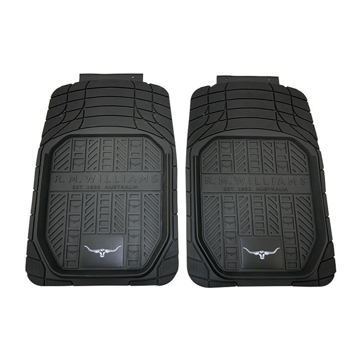 Image of RM Williams Heavy Duty Rubber Floor Mats Front Pair Black
