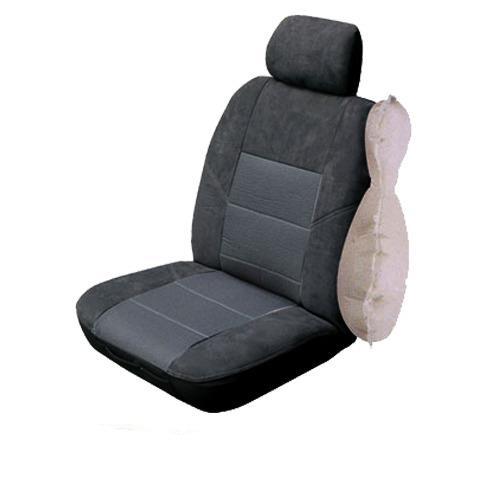Image of Charcoal - Custom Made Esteem Velour Seat Covers Skoda Fabia 5JF MY13 Monte Carlo 4 Door Hatch 06/2012-On 2 Rows