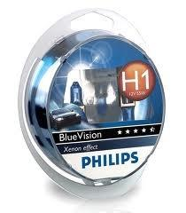 Image of Philips H1 Blue Vision 55W 12V 12258BV5D