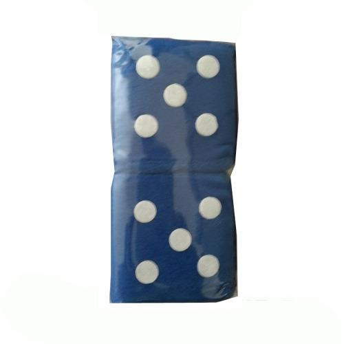 Image of Dice Fluffy Blue One Pair