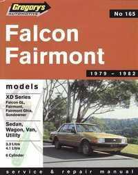 Image of Gregorys Workshop Manual XD Falcon Fairmont 6 Cyl Sedan Wagon 1979 - 1982 GR165