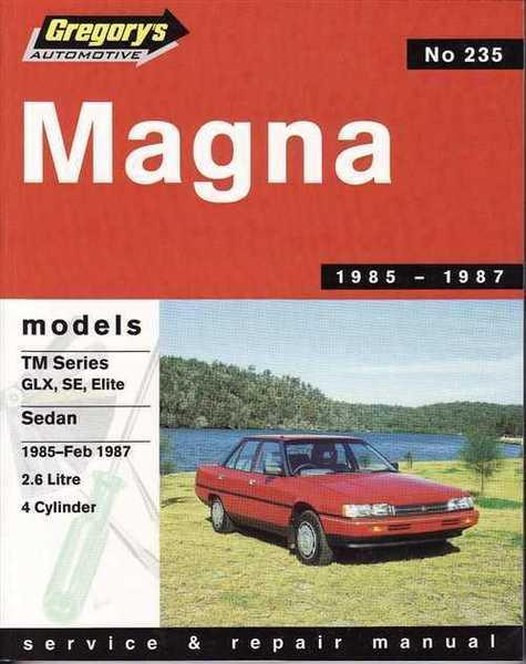 Image of Gregorys Workshop Manual Magna TM 1985-2/1987 2.6 LT 4 CYL GR235