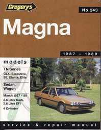 Image of Gregorys Workshop Manual Magna TN 4 CYL 1987 - 1989 GR243