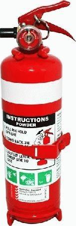 Image of 1.0Kg Fire Extinguisher 1A:20Be (Metal Bracket) FW4