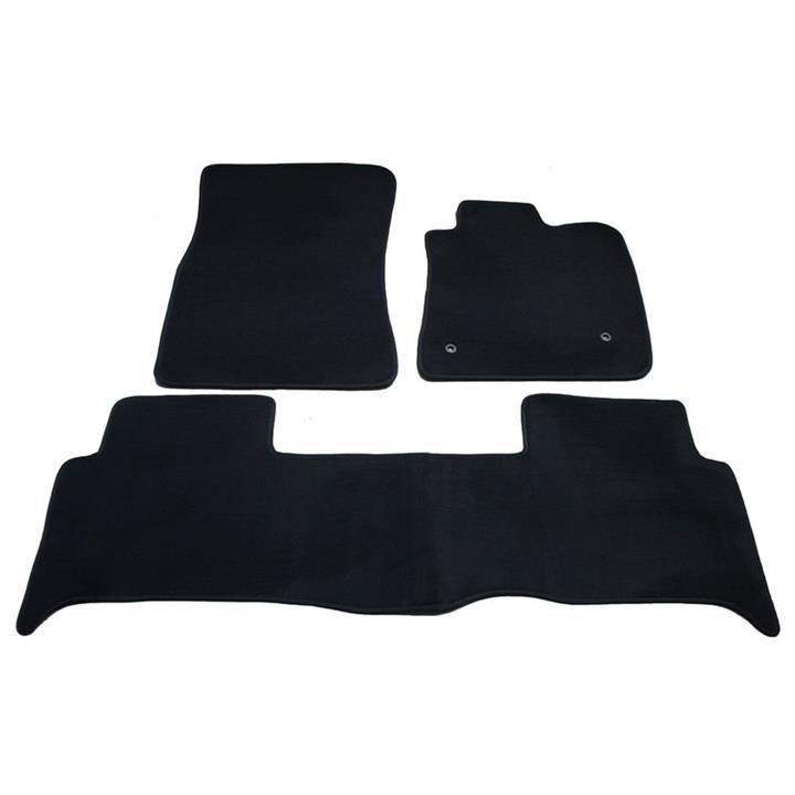 Image of Tailor Made Floor Mats Honda Odyssey 7 Seater 6/2004 - 3/2009 Custom Fit Front & Rear [Colour: Black]