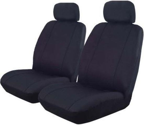 Image of Canvas Car Seat Covers Holden Colorado Crew Cab RC Dual 7/2008-5/2012 Airbag Safe