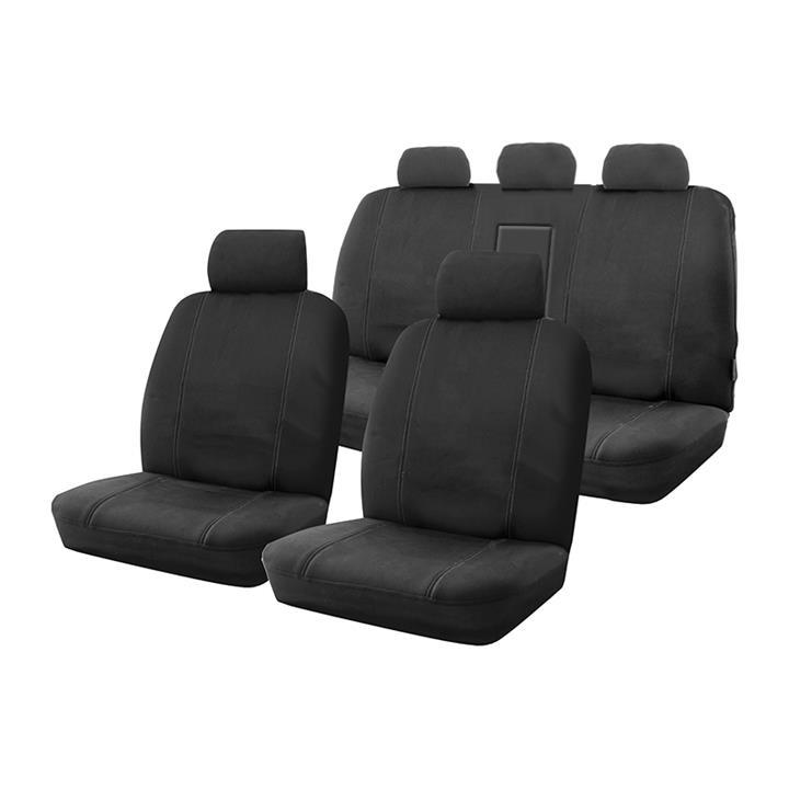 Image of Custom Made Black Canvas Seat Covers Mitsubishi Triton ML MN GLX / GLX-R / VR 7/2006 - 4/2015