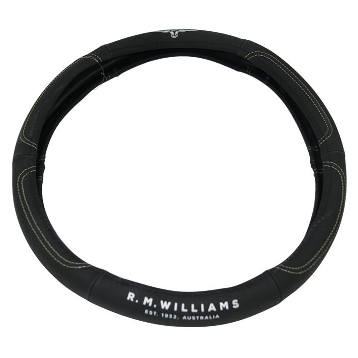 Image of RM Williams Leather 15 Inch Steering Wheel Cover RMW