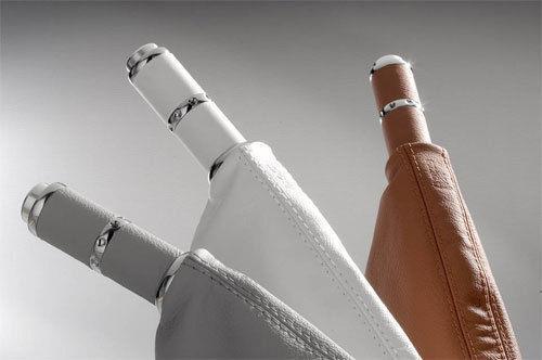 Image of Isotta Leather Hand Brake Handle Grey