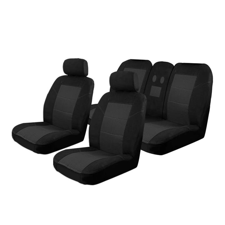 Image of Black - Esteem Velour Seat Covers Set Suits Holden Commodore VE VF SV6 / SS 4 Door Sedan 08/2006-5/2013 2 Rows
